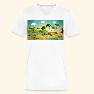 3d nature t-shirt - Men's V-Neck T-Shirt by Canvas