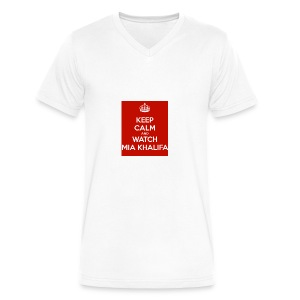 keep-calm-and-watch-mia-khalifa - Men's V-Neck T-Shirt by Canvas