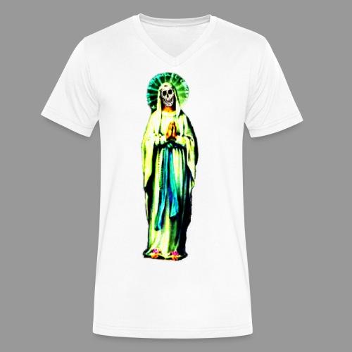 Cult Of Santa Muerte - Men's V-Neck T-Shirt by Canvas