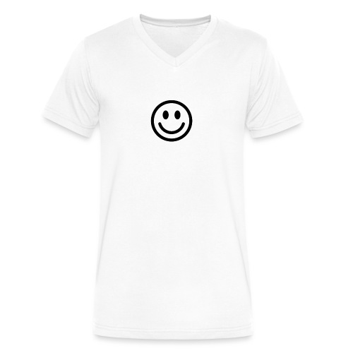 smile dude t-shirt kids 4-6 - Men's V-Neck T-Shirt by Canvas