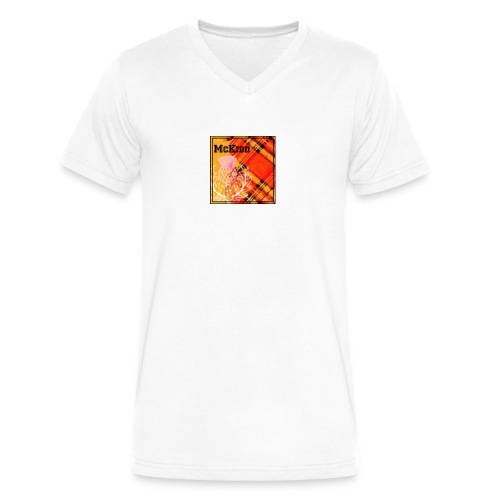 mckidd name - Men's V-Neck T-Shirt by Canvas