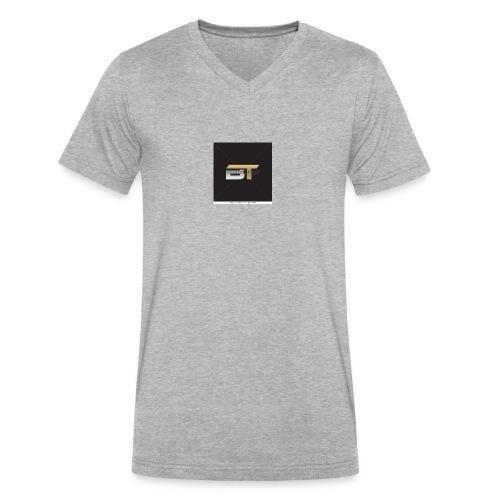 BT logo golden - Men's V-Neck T-Shirt by Canvas