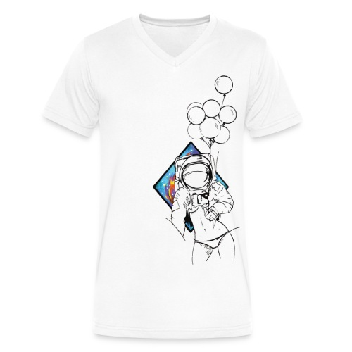 Astronaute - Art'Norme - Men's V-Neck T-Shirt by Canvas