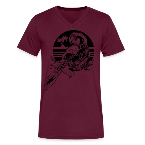 Tropical Parrot - Men's V-Neck T-Shirt by Canvas