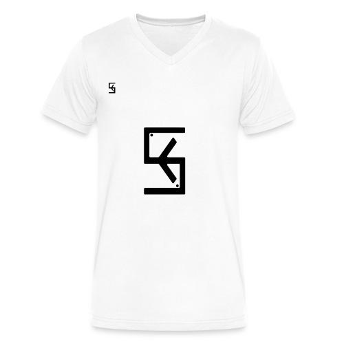 Soft Kore Logo Black - Men's V-Neck T-Shirt by Canvas