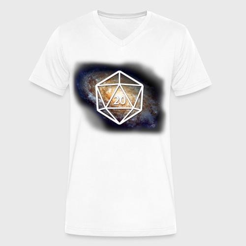 Geek Galaxy d20 - Men's V-Neck T-Shirt by Canvas