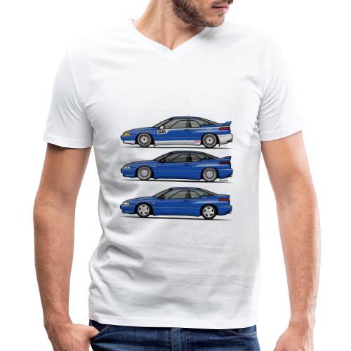 Subie Alcyone SVX Laguna Blue Pearl Trio - Men's V-Neck T-Shirt by Canvas