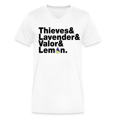 beatlesblack - Men's V-Neck T-Shirt by Canvas