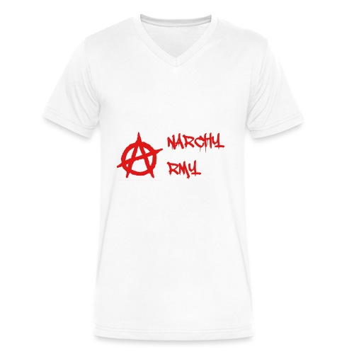 Anarchy Army LOGO - Men's V-Neck T-Shirt by Canvas