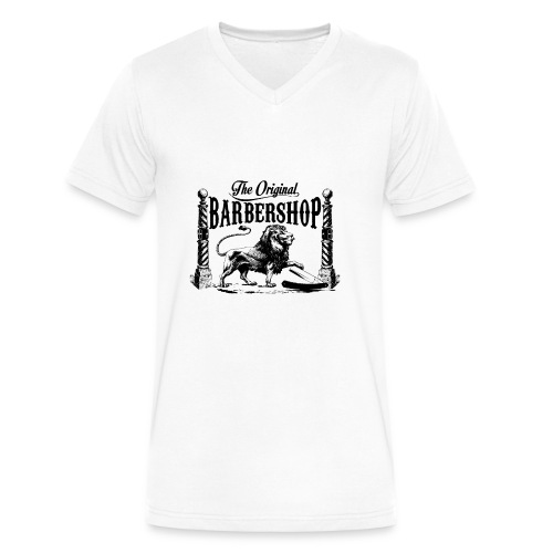 The Original Barbershop - Men's V-Neck T-Shirt by Canvas