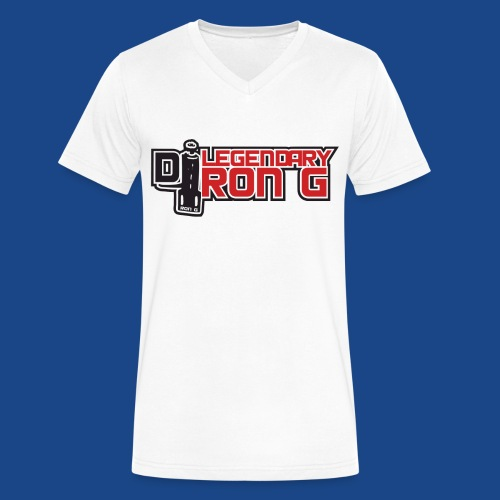 Ron G logo - Men's V-Neck T-Shirt by Canvas