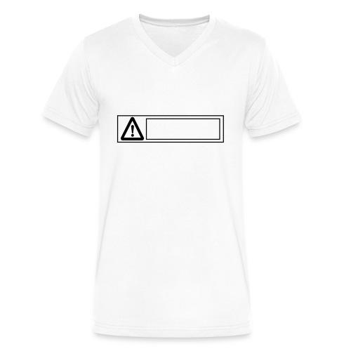 warning sign - Men's V-Neck T-Shirt by Canvas