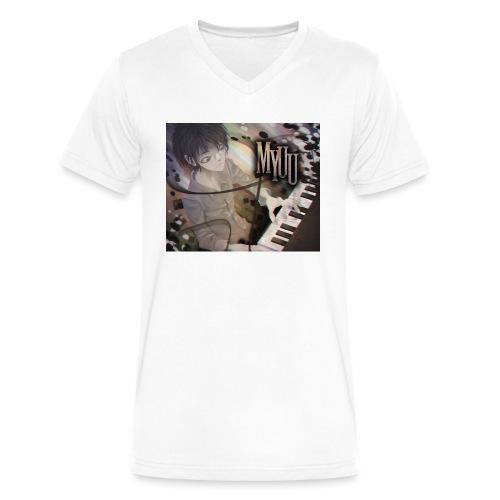 Dark Piano 1 - Men's V-Neck T-Shirt by Canvas