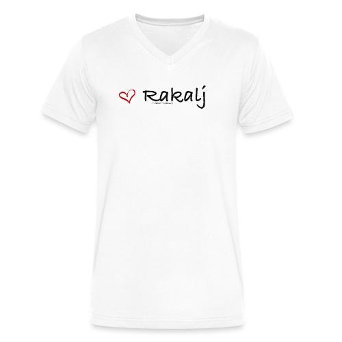 I love Rakalj - Men's V-Neck T-Shirt by Canvas