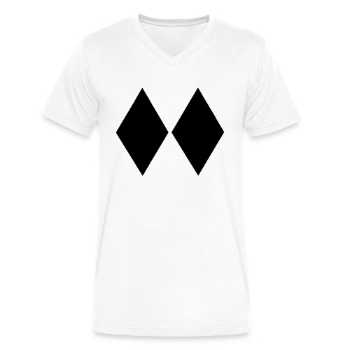 Double Black Diamond - Men's V-Neck T-Shirt by Canvas