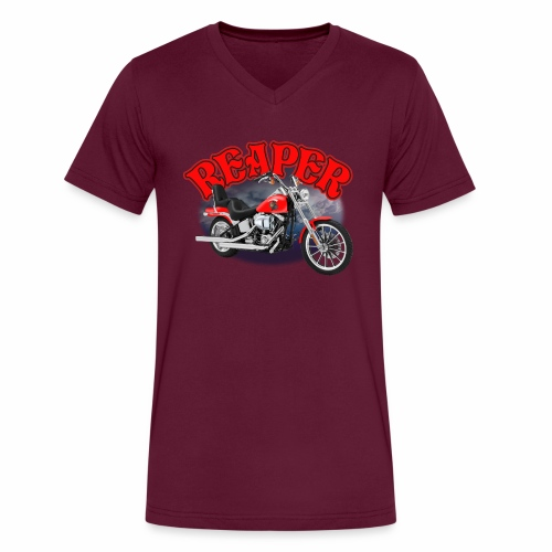 Motorcycle Reaper - Men's V-Neck T-Shirt by Canvas