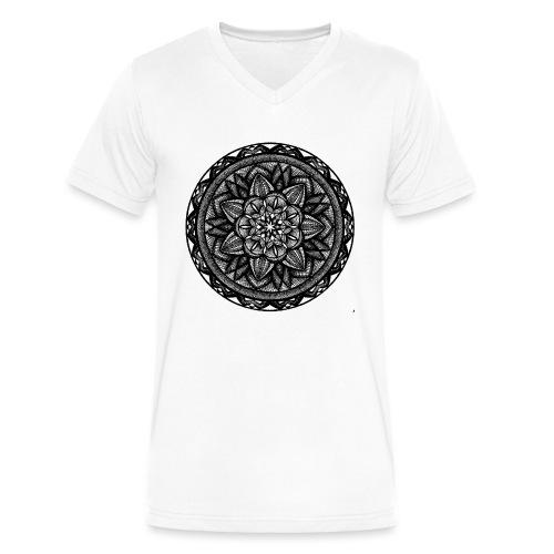 Circle No.2 - Men's V-Neck T-Shirt by Canvas