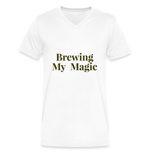 Brewing My Magic Women's Tee - Men's V-Neck T-Shirt by Canvas