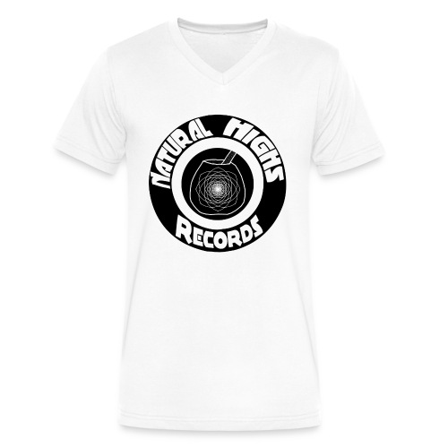 Natural Highs Records - Men's V-Neck T-Shirt by Canvas