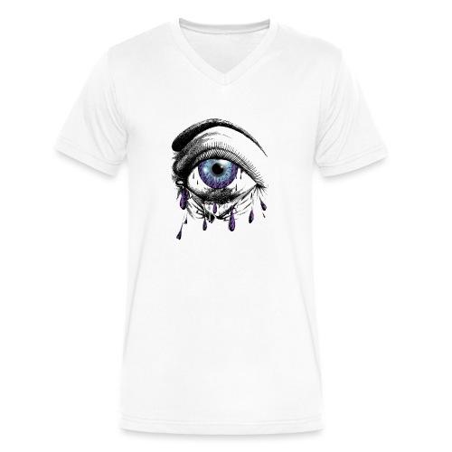 Lightning Tears - Men's V-Neck T-Shirt by Canvas
