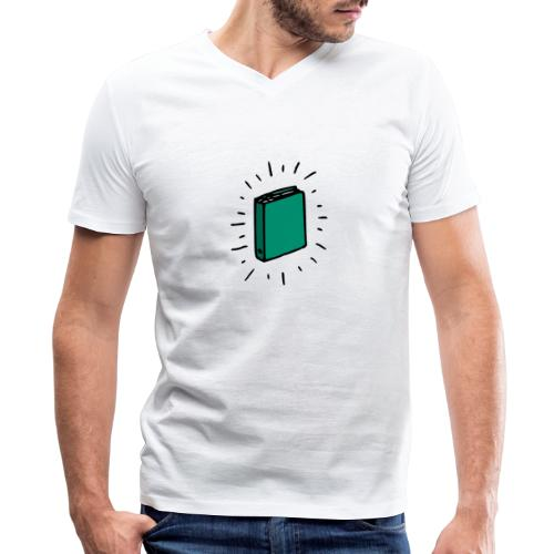 Book - Men's V-Neck T-Shirt by Canvas