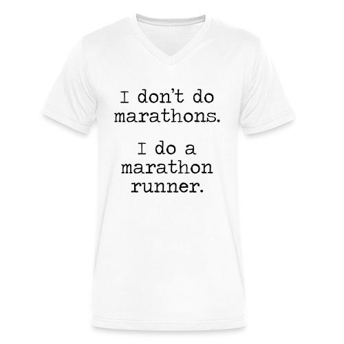 DONT DO MARATHONS - Men's V-Neck T-Shirt by Canvas