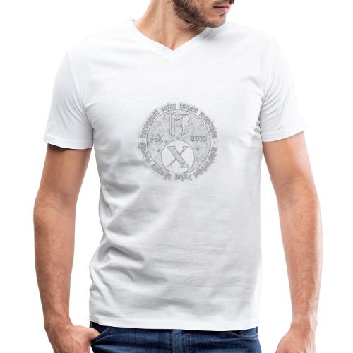 TCF 10th Anniversary (Grey) - Men's V-Neck T-Shirt by Canvas