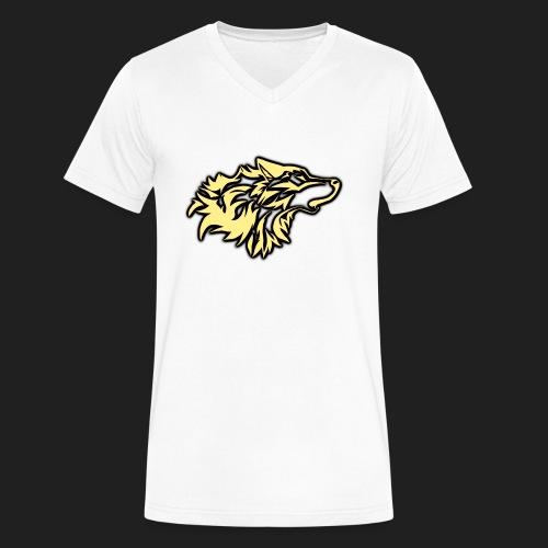 wolfepacklogobeige png - Men's V-Neck T-Shirt by Canvas