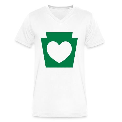 Love/Heart PA Keystone - Men's V-Neck T-Shirt by Canvas