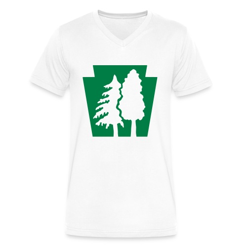 PA Keystone w/trees - Men's V-Neck T-Shirt by Canvas
