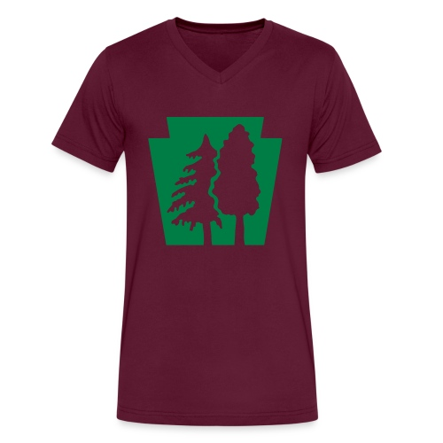 PA Keystone w/trees - Men's V-Neck T-Shirt by Canvas