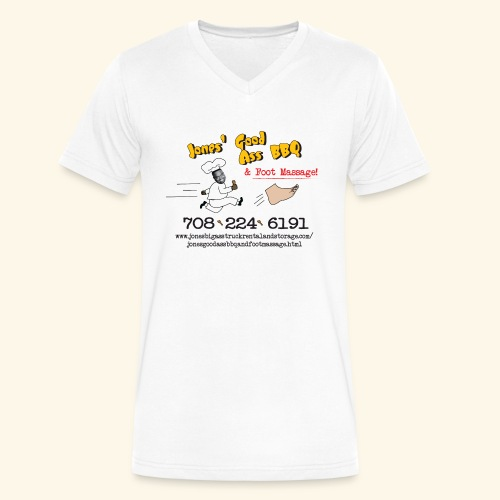Jones Good Ass BBQ and Foot Massage logo - Men's V-Neck T-Shirt by Canvas