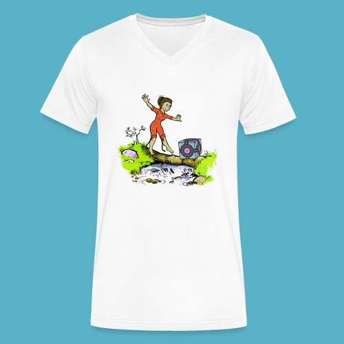 Testing Everywhere! - Men's V-Neck T-Shirt by Canvas