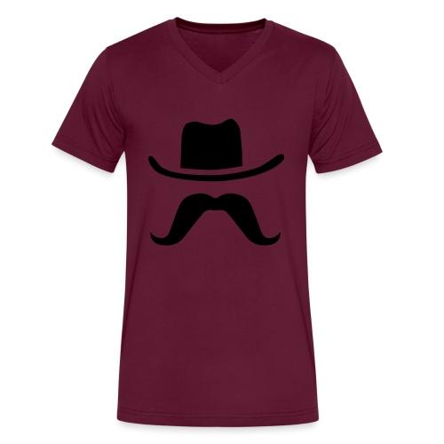 Hat & Mustache - Men's V-Neck T-Shirt by Canvas