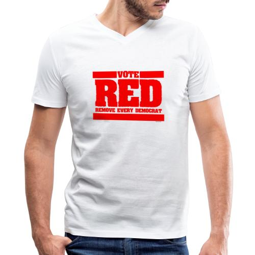 Remove every Democrat - Men's V-Neck T-Shirt by Canvas