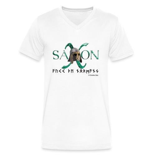 Saxon Pride - Men's V-Neck T-Shirt by Canvas