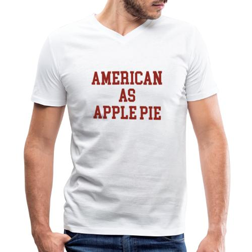 American as Apple Pie - Men's V-Neck T-Shirt by Canvas