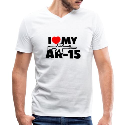 I LOVE MY AR-15 - Men's V-Neck T-Shirt by Canvas