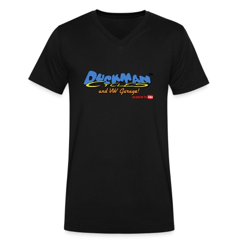 DuckmanCycles and VWGarage - Men's V-Neck T-Shirt by Canvas