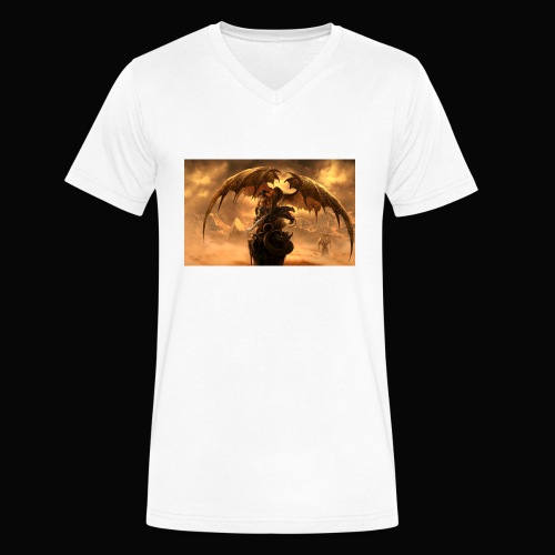 Dragon féroce - Men's V-Neck T-Shirt by Canvas