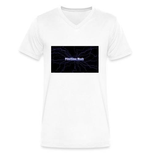 backgrounder - Men's V-Neck T-Shirt by Canvas