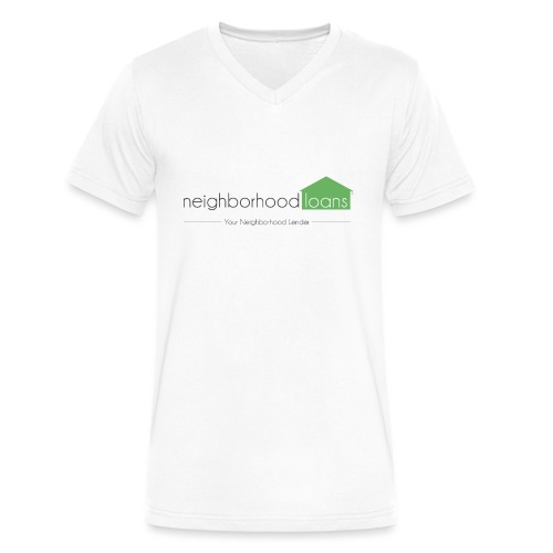 Neighborhood Loans White Items - Men's V-Neck T-Shirt by Canvas