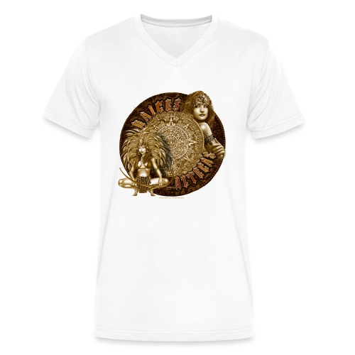 Raices Aztecas by RollinLow - Men's V-Neck T-Shirt by Canvas