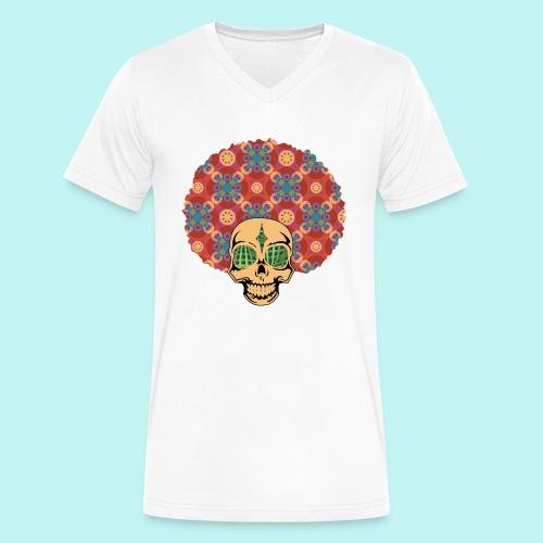 MACK DADDY SKULLY - Men's V-Neck T-Shirt by Canvas