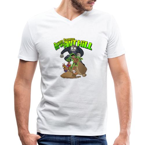 Ant Bully - Men's V-Neck T-Shirt by Canvas