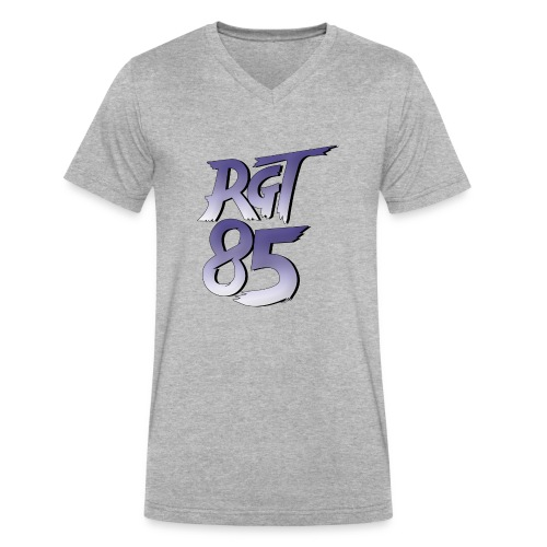 RGT 85 Logo - Men's V-Neck T-Shirt by Canvas