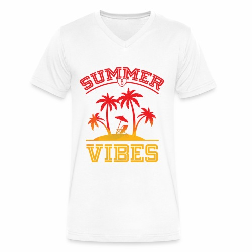 Summer Vibes - Men's V-Neck T-Shirt by Canvas