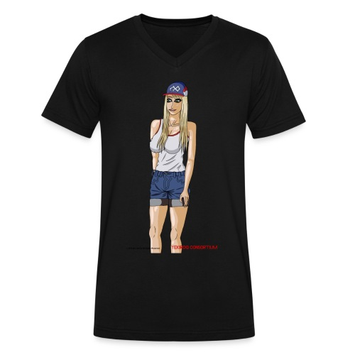 Gina Character Design - Men's V-Neck T-Shirt by Canvas
