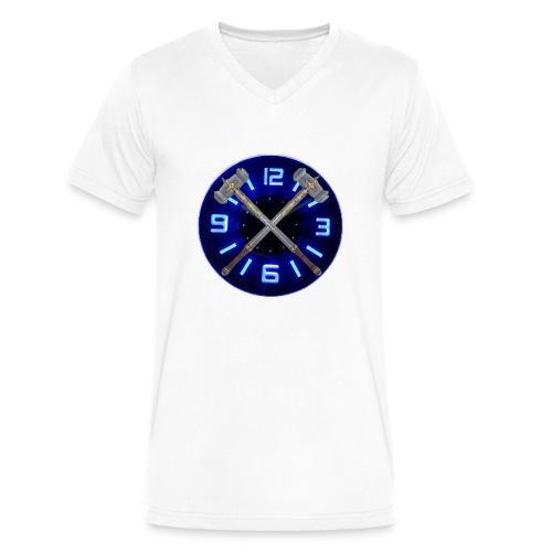 Hammer Time T-Shirt- Steel Blue - Men's V-Neck T-Shirt by Canvas