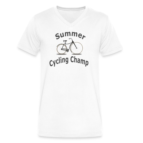 Summer Cycling Champ - Men's V-Neck T-Shirt by Canvas